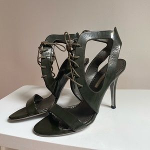 STELLA McCARTNEY Khaki Heels Sandals Vegan 37 / 7